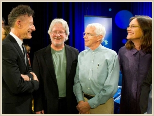 Lyle Lovett, Vince Bell, Don Sanders, and Denice Franke