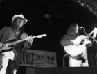 David Spencer and Denice Franke performing at the Rice Festival